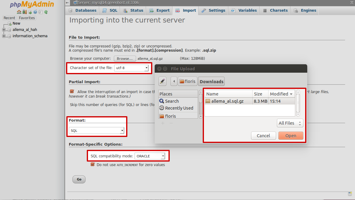 Importing a backup is done quickly, but it can be hard because of a              non-matching format