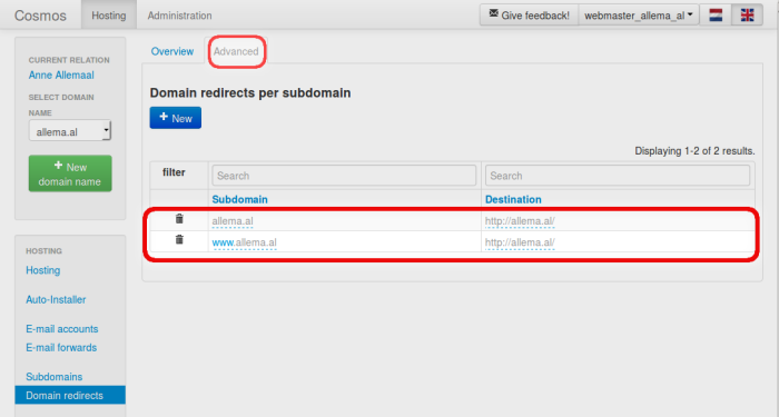 redirect-changing schadow tab