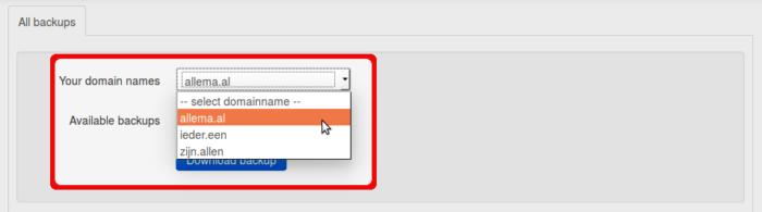 Backups-fileserver (domainsdrop) select