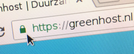 Green lock icon in URL bar