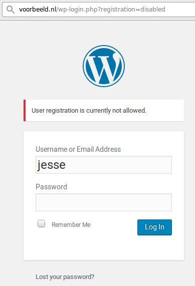 Register Disabled